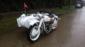 定制款长江750边三轮摩托车白色
